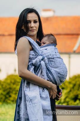 Żakardowa chusta do noszenia dzieci, 60% Bawełna 28% Len 12% Jedwab Tussah - KRÓLEWSKA SYMFONIA - rozmiar M