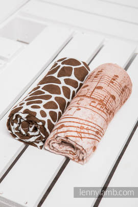 Swaddle Wrap Set - SYMPHONY BROWN & CREAM, GIRAFFE BROWN & CREAM