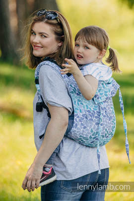 Lenny Buckle Onbuhimo, toddler size, jacquard weave (100% cotton) - Wrap conversion from COLORS OF HEAVEN