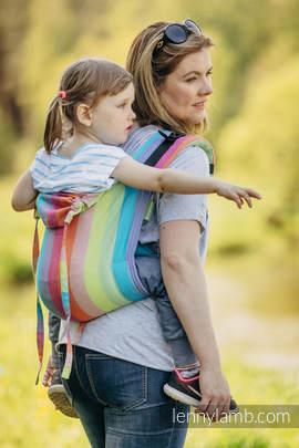 Lenny Buckle Onbuhimo Tragehilfe, Größe Toddler, Kreuzköper-Bindung (100% Baumwolle) - CORAL REEF