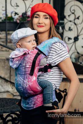 Nosidełko Ergonomiczne z tkaniny żakardowej 100% bawełna , Baby Size, MIASTO MIŁOŚCI - Druga Generacja