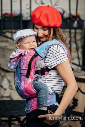 Nosidełko Ergonomiczne z tkaniny żakardowej 100% bawełna , Toddler Size, MIASTO MIŁOŚCI - Druga Generacja