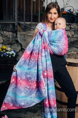 Baby Wrap, Jacquard Weave (100% cotton) - CITY OF LOVE - size L (grade B)
