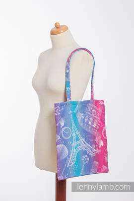 Shopping bag made of wrap fabric (100% cotton) - CITY OF LOVE