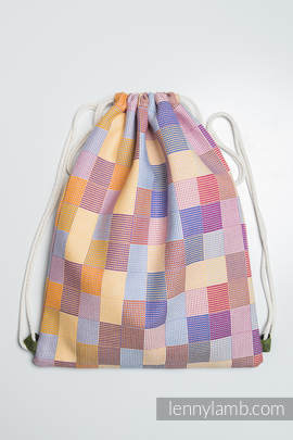 Sackpack made of wrap fabric (100% cotton) - QUARTET - standard size 32cmx43cm (grade B)