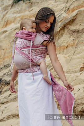 WRAP-TAI carrier Toddler with hood/ jacquard twill / 100% cotton / SANDY SHELLS