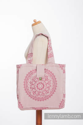 Shoulder bag made of wrap fabric (100% cotton) - SANDY SHELLS - standard size 37cmx37cm (grade B)