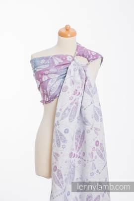 Ringsling, Jacquard Weave (60% cotton, 40% linen) - DRAGONFLY LAVENDER
