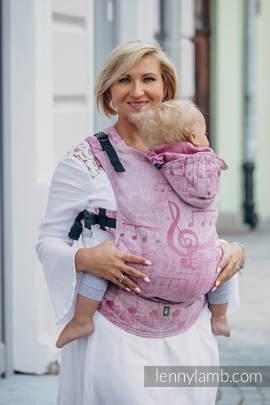Nosidełko Ergonomiczne z tkaniny żakardowej 60% bawełna 40% len, Toddler Size, ZACZAROWANA SYMFONIA Druga Generacja