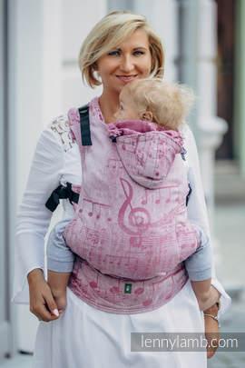 Nosidełko Ergonomiczne z tkaniny żakardowej 60% bawełna 40% len, Baby Size, ZACZAROWANA SYMFONIA, Druga Generacja