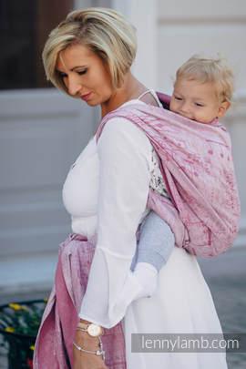 Baby Wrap, Jacquard Weave (60% cotton, 40% linen) - ENCHANTED SYMPHONY - size L