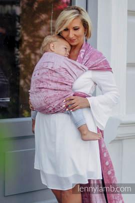 Baby Wrap, Jacquard Weave (60% cotton, 40% linen) - ENCHANTED SYMPHONY - size XL