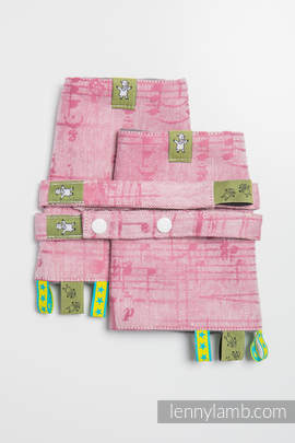 Drool Pads & Reach Straps Set, (60% cotton, 40% linen) - ENCHANTED SYMPHONY