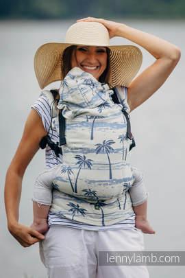Nosidełko Ergonomiczne z tkaniny żakardowej 100% bawełna , Toddler Size,  RAJSKA WYSPA - Druga Generacja