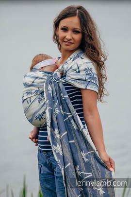Żakardowa chusta kółkowa do noszenia dzieci, bawełna, ramię bez zakładek - RAJSKA WYSPA (drugi gatunek)