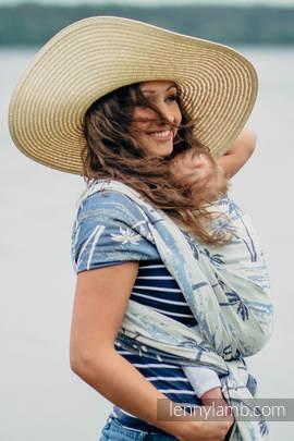 Żakardowa chusta do noszenia dzieci, bawełna - RAJSKA WYSPA  - rozmiar XS