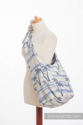 Torba Hobo z materiału chustowego, (100% bawełna) - RAJSKA WYSPA