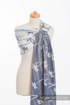 Żakardowa chusta kółkowa do noszenia dzieci, bawełna - RAJSKA WYSPA (drugi gatunek)