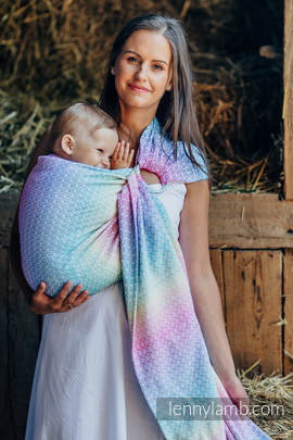 Ringsling, Jacquard Weave (80% cotton, 20% bamboo) - LITTLE LOVE - SCENT OF SUMMER (grade B)