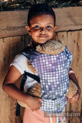 Puppentragehilfe, hergestellt vom gewebten Stoff (100% Baumwolle) - MOSAIC - MONOCHROM