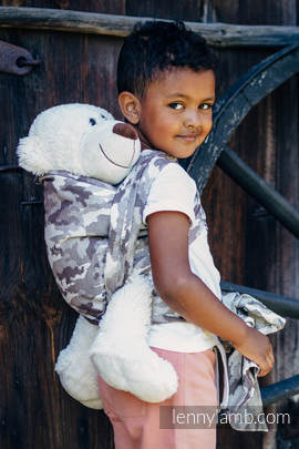 Doll Sling, Jacquard Weave, 100% cotton - BEIGE CAMO