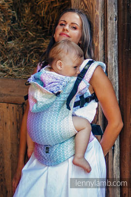 Ergonomic Carrier, Baby Size, jacquard weave 80% cotton, 20% bamboo - wrap conversion from LITTLE LOVE - SCENT OF SUMMER, Second Generation