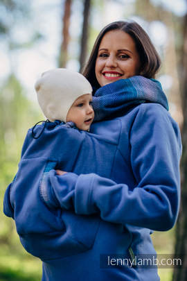 Fleece Babywearing Sweatshirt 2.0 - size XXL - blue with Little Herringbone Illusion