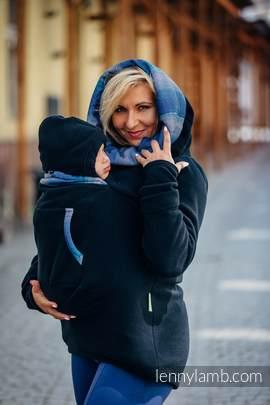 Fleece Babywearing Sweatshirt 2.0 - size 3XL - black with Little Herringbone Illusion