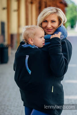 Fleece Babywearing Sweatshirt 2.0 - size 5XL - black with Little Herringbone Illusion