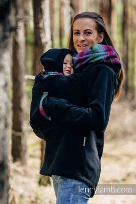 Fleece Babywearing Sweatshirt 2.0 - size 5XL - black with Little Herringbone Impression Dark