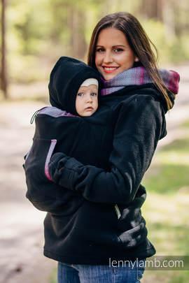 Polarowa bluza do noszenia dzieci 2.0 - rozmiar 6XL - czarna z Małą Jodełką Inspiracją