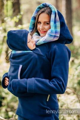 Fleece Babywearing Sweatshirt 2.0 - size L - navy blue with Little Herringbone Petrea (grade B)