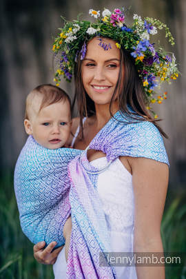Ringsling, Jacquard Weave (60% cotton, 40% bamboo) - BIG LOVE - WILDFLOWERS (grade B)