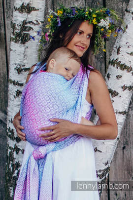 Baby Wrap, Jacquard Weave (60% cotton, 40% bamboo) - BIG LOVE - WILDFLOWERS - size M (grade B)