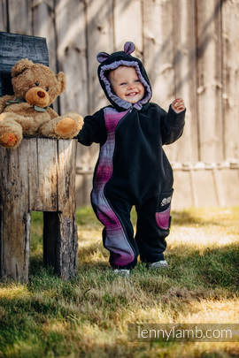 Bear Romper - size 62 - black with Little Herringbone Inspiration (grade B)
