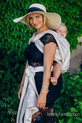 Baby Wrap, Jacquard Weave (60% cotton 28% linen 12% tussah silk) - SMOKY PINK LACE - size XL