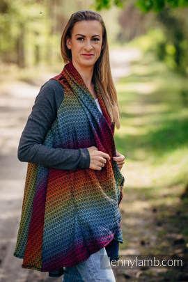 Long Cardigan - Plus Size - Little Love Rainbow Dark