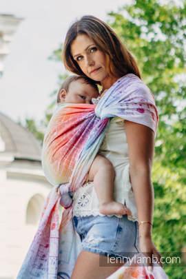 Żakardowa chusta do noszenia dzieci, bawełna - SYMFONIA TĘCZOWA LIGHT - rozmiar XS