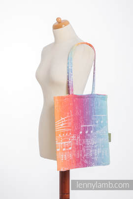Shopping bag made of wrap fabric (100% cotton) - SYMPHONY RAINBOW LIGHT