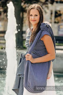 Hobo Bag made of woven fabric, 100% cotton - LITTLE LOVE - HARMONY