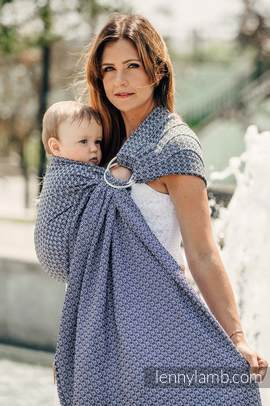 Ringsling, Jacquard Weave (100% cotton), with gathered shoulder - LITTLE LOVE - HARMONY
