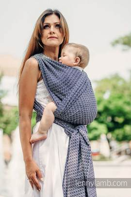 Baby Wrap, Jacquard Weave (100% cotton) - LITTLE LOVE - HARMONY - size M