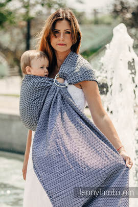 Ringsling, Jacquard Weave (100% cotton) - LITTLE LOVE - HARMONY