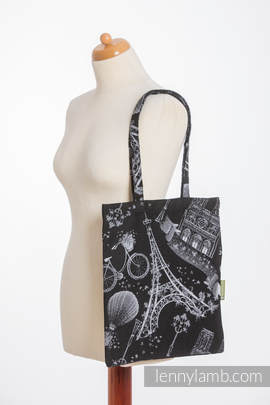 Shopping bag made of wrap fabric (100% cotton) - CITY OF LOVE AT NIGHT
