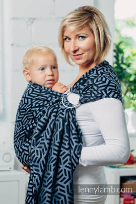 Basic Line Ring Sling - KYANITE - 100% Cotton - Jacquard Weave -  with gathered shoulder