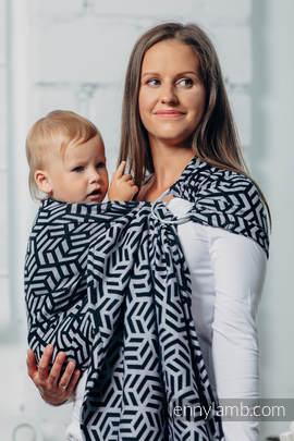 Basic Line Ring Sling - HEMATITE- 100% Cotton - Jacquard Weave -  with gathered shoulder
