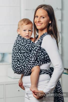 Basic Line Baby Sling - HEMATITE, Jacquard Weave, 100% cotton, size M