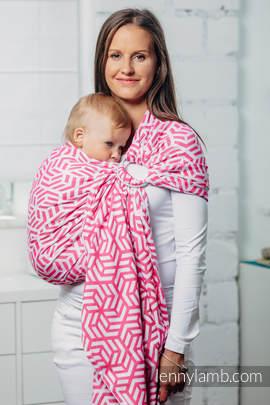 Moja druga chusta kółkowa do noszenia dzieci - TURMALIN, splot żakardowy - bawełniana - ramię bez zakładek (drugi gatunek)