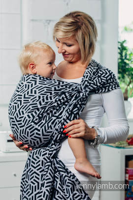 Basic Line Baby Sling - HEMATITE, Jacquard Weave, 100% cotton, size XL