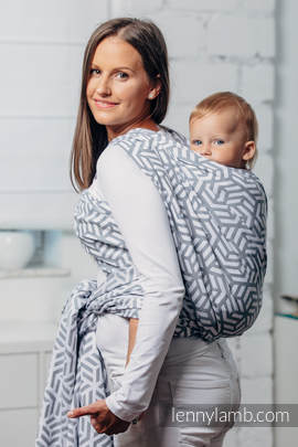 Basic Line Baby Sling - PEARL, Jacquard Weave, 100% cotton, size M (grade B)